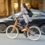 Electric wooden bike in NY