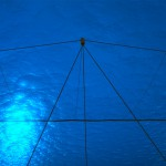 Underwater view of The Ocean Cleanup booms