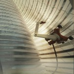 Mars Ice House being 3D printed
